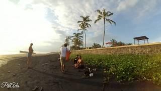 DRONE FPV FREESTYLE DI PANTAI PASUT, SUNSET , PASIR HITAM.