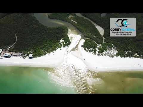 Pelican Bay South Beach Club & Clam Pass fly over video