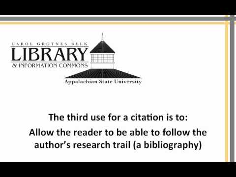 Reading a Citation and Why It Matters