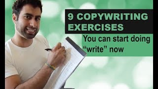 "9 Copywriting Exercises you can start doing ""write"" now"