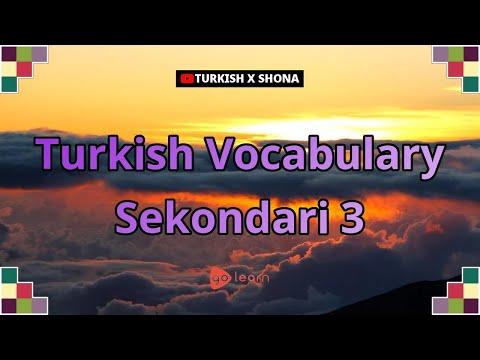 Turkish Vocabulary Sekondari 3   Golearn