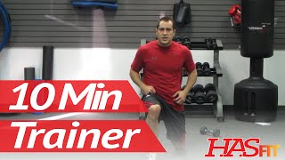 10 Minute Trainer Workouts To Lose Belly Fat Fast! Part 1 of 3 Weight Loss Cardio Workout HASfit by HASfit