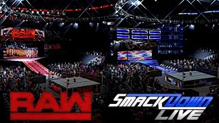 WWE 2K16: 2016 Post SummerSlam Raw & SmackDown Live Arenas!