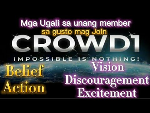 Mga ugali sa unang member sa gusto mag join  sa CROWD1
