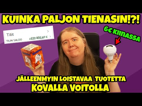 Paljonko TIENASIN jälleenmyymällä NETISSÄ?!? - Projekti Klamppu!