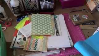 Layout & A Look At My Desk Stash