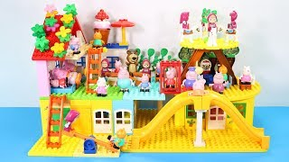 Peppa Pig Blocks Mega House Toys For Kids - Lego Duplo House Creations Toys Construction Sets #2