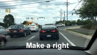 MVA Gaithersburg Driving Test Route 2014