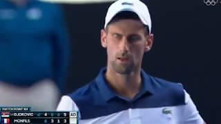 テニスN.ジョコビッチvsG.モンフィス全豪オープン20182回戦