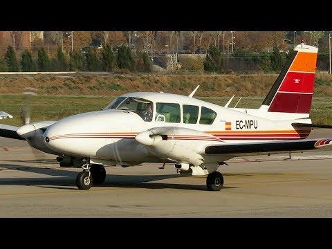 Piper PA-23-250 Aztec Takeoff Sabadell Airport