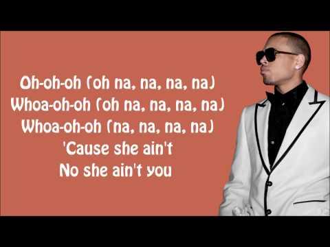 Chris Brown - She Ain't You Lyrics Video