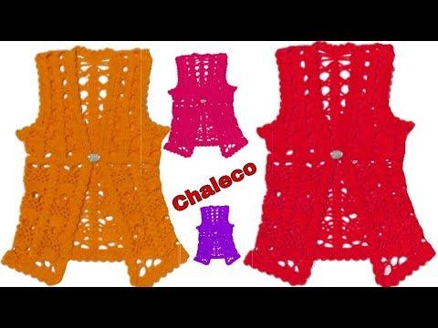 Chaleco Tejido En Punto Mini Piñas Y Arañitas A Crochet | Paso A Paso | Tutoríal