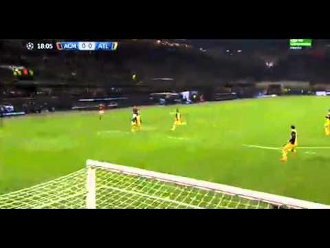 Kaka amazing miss ~AC Milan 0-0 Atletico Madrid