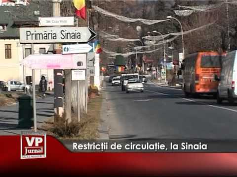 Restricții circulație, la Sinaia