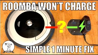 EASY FIX: Roomba Won't Charge - iRobot Roomba - Robot Vacuum Cleaner