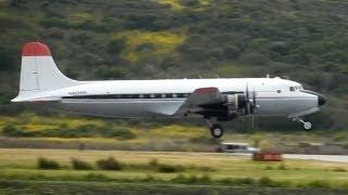 Douglas C-54E (DC-4) Departing & Arriving HAF