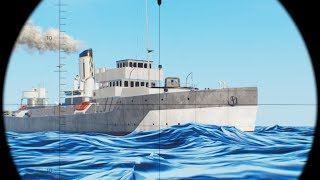 SINKING HUGE SHIPS, FAVORITE WII SUB SIMULATOR TORPEDO HITS WARSHIP FLEET | Wolfpack Gameplay