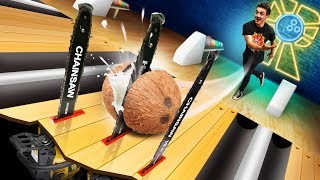 Chainsaw Bowling Challenge!