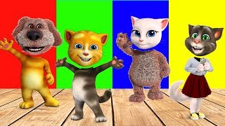 Wrong Heads Talking Tom and Friends Finger family Song Nursery Rhymes Collection | LidoTV
