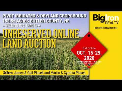 Land Auction  153.5+/- Acres Butler County, NE