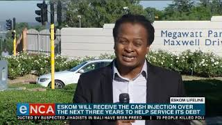 Eskom Will Get A Cash Injection Over The Next Three Years