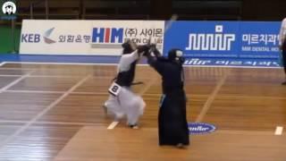 검도 | 김민지 사범 득점 장면