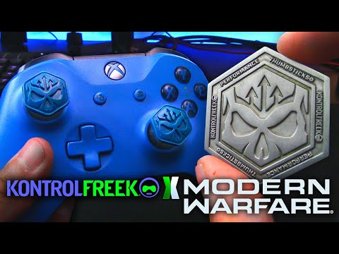 "KontrolFreek ""Modern Warfare"" Unboxing/Review! [Call of Duty MW Thumbsticks + Challenge Coin]"