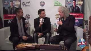 Pt 1: Brian May & Adam Lambert Backstage Classic Rock Awards 4 November 2014