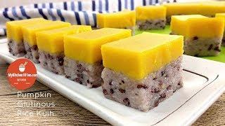 Pumpkin Glutinous Rice Kuih (Pumpkin Seri Muka) | MyKitchen101en