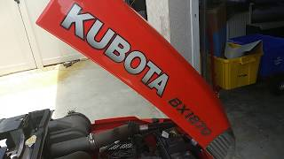 Diesel Engine Emergency shut off Kubota BX1870