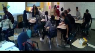 Newcomers Learning Desk Arragements (Desk Olympics)