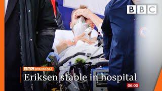 Christian Eriksen: Denmark midfielder 'awake' after collapsing on pitch @BBC News live 🔴 BBC