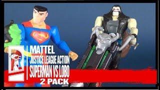 Toy Spot | Mattel Justice League Action Superman Vs Lobo Boxed Set