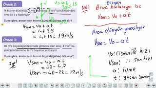Eğitim Vadisi 11.Sınıf Fizik 6.Föy Bir Boyutta Sabit İvmeli Hareket 1 Konu Anlatım Videoları
