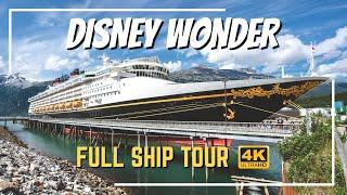 Disney Wonder   Full Ship Tour 2019   All Public Spaces, Bars, and Restaurants