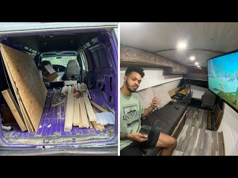 I Built an Off Grid Solar TINY HOUSE in a Van in 2 Months
