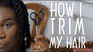 HOW: Trimming My own Hair   Ends Breaking Off   4C Hair