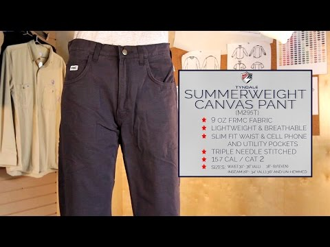 Summerweight canvas pant M295T