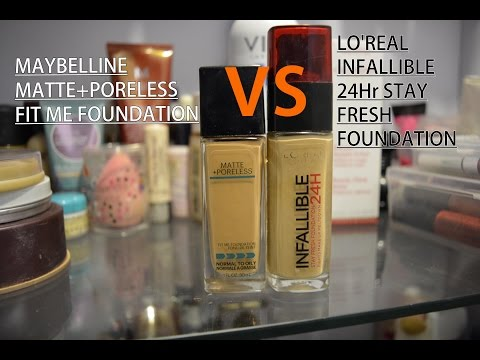 Maybelline fit me Foundation VS LO'real infallible 24 hr stay fresh foundation (INDIA)