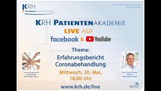 Pateintenakademie live: Erfahrungsbericht Coronabehandlung