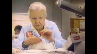 Polly Rowles--Hanes Underwear Commercial, 1982 TV