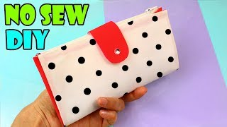 DIY PURSE CLUTCH WALLET TUTORIAL FOR WOMAN NO SEW FROM SCRATCH