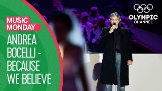 Andrea Bocelli - Because We Believe (Ama Credi E Vai) - Torino 2006 Closing Ceremony | Music Monday