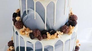 Marbled Fondant Drip Cake- Rosies Dessert Spot