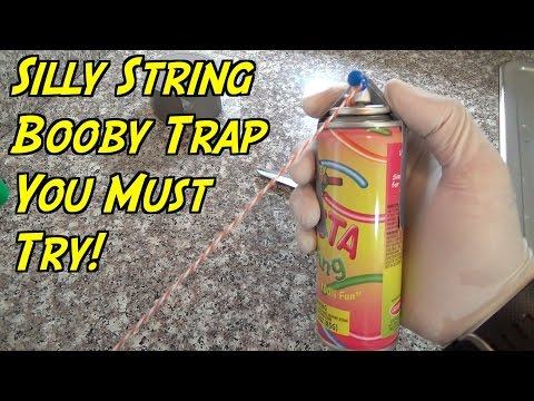 The Ultimate Silly String Prank You Gotta Try - HOW TO PRANK (Evil Booby Traps) | Nextraker