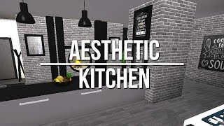 Roblox welcome to bloxburg white kitchen for Kitchen designs bloxburg