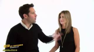 60 Seconds with Jennifer Aniston & Paul Rudd