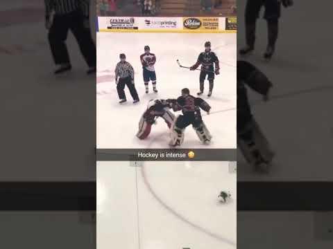Wilde Schlägerei in Eishockey!😱😱