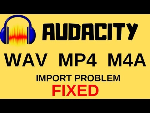 AUDACITY: How to import WAV,MP3,M4A and MP4 files. || import problem || viewers king