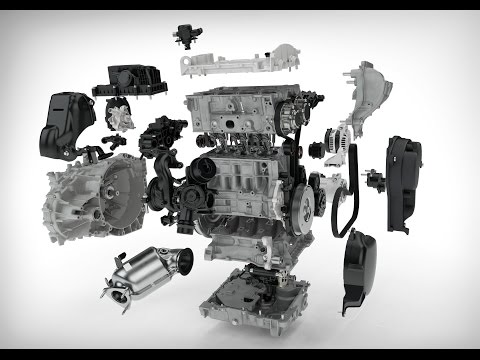 Фото к видео: All new 2017 Volvo Drive-E 3 cylinder petrol engine Technology Animation